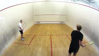 Spånga Squash - Erik vs Fredrik 16 mars