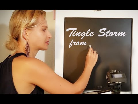 Tingles GUARANTEED! ASMR Chalkboard Czech Teacher Role Play
