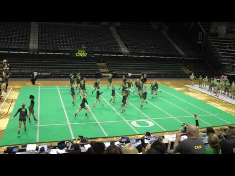 Oregon Acro Team Routine vs Baylor 2017