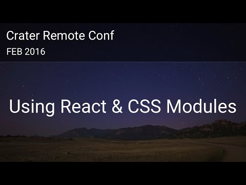 Using React and CSS Modules - Crater Conf