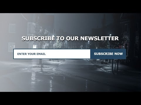 Responsive Newsletter Section Using Only HTML , CSS & Bootstrap