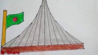 How to draw National Memorial | Shriti Shoudho of Bangladesh | Easy Draw