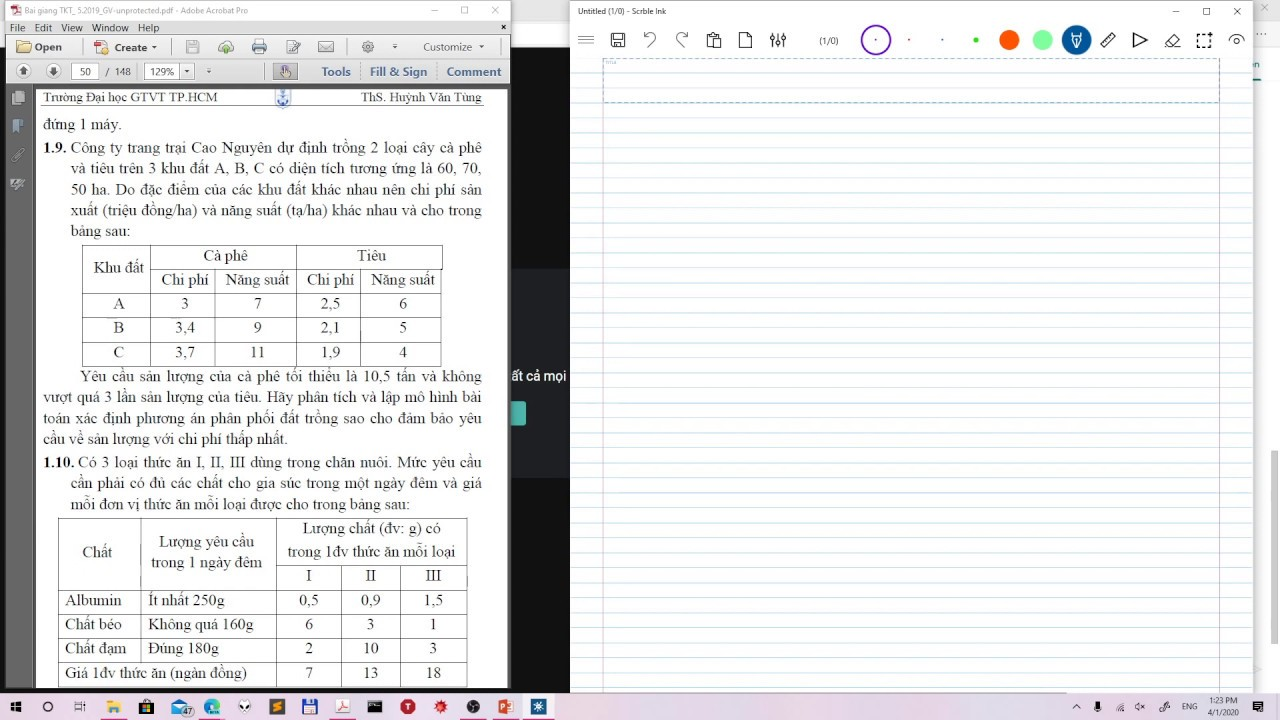 Download Hướng dẫn một số BT lập mô hình (chương 1)