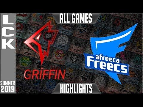GRF vs AF Highlights ALL GAMES | LCK Summer 2019 Week 1 Day 2 | Griffin vs Afreeca Freecs