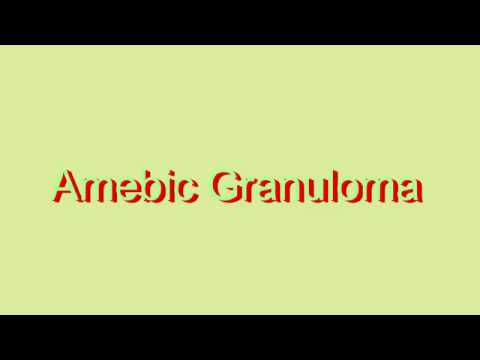 How to Pronounce Amebic Granuloma