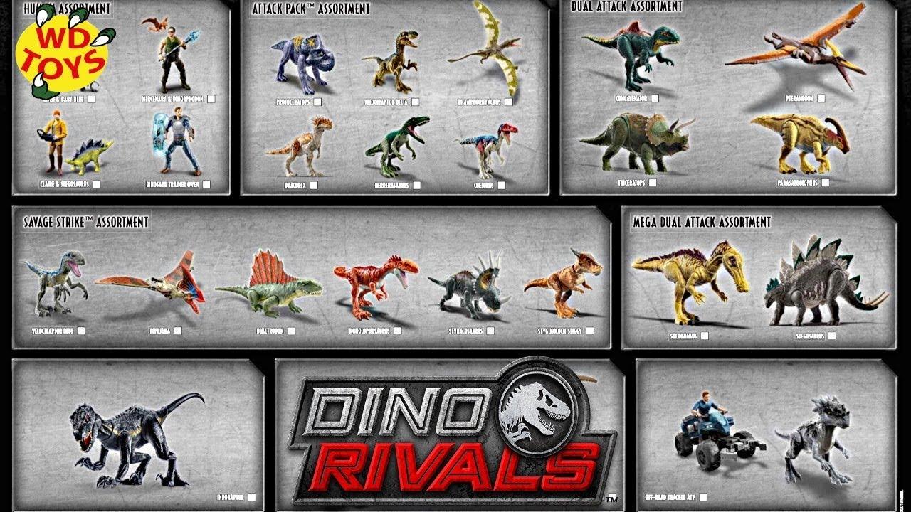New Jurassic World Dino Rivals 2019 Mattel Dinosaur Toys Fallen Kingdom WD Toys