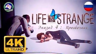 Life is Strange Эпизод 4 Проявочная 4K 60FPS ИГРОФИЛЬМ 18+ русская озвучка сюжет фантастика