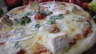 """Рецепт- Пицца """"Три сыра"""" (из теста для тонкой пиццы)"""