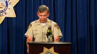 Sheriff News Conference on Death of Officer David Vanbuskirk