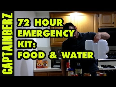 72 Hour Emergency Kit for Natural Disaster Preparedness: Food & Water