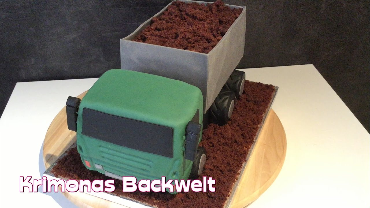lkw fondant torte selber machen truck fondant cake diy. Black Bedroom Furniture Sets. Home Design Ideas