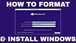 Windows 8.1 Formatting and Clean Installation