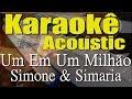 Simone & Simaria - Um Em Um Milhão (Karaokê Acústico) playback