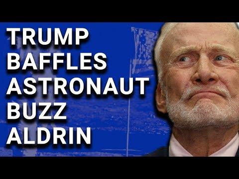 Bizarre Trump Speech Causes Buzz Aldrin Physical Pain