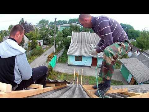 Крыша 2...Руфинг Зацепиры Ондулин Как снять шифер