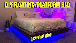 How to Build a Floating Platform Bed! (Materials & Instructions in Description)