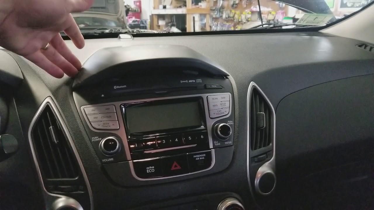 2012 Hyundai Tucson Radio Removal Youtube