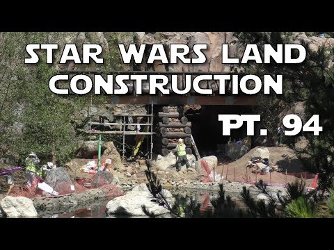 Star Wars Land  - NEW VIEWS of Construction! - Pt. 94   06-17-2017