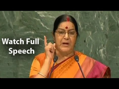 Watch: Sushma Swaraj's Takedown Of Pak At UN