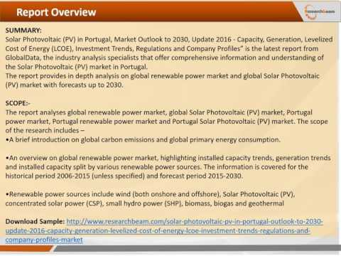Emerging Trends of Solar Photovoltaic PV in Portugal