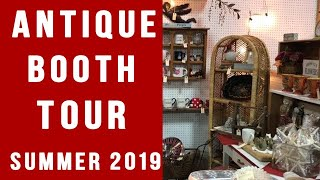 SUMMER 2019 ANTIQUE BOOTH TOUR  & SHOP WITH ME AT MY ANTIQUE MALL!!