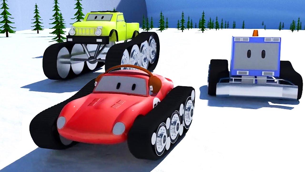 Snowplough monster trucks spid the racing car for Motor racing for kids