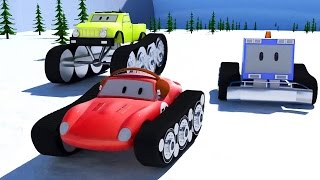 Snowplough, Monster Trucks & Spid the racing car | Cartoons for children