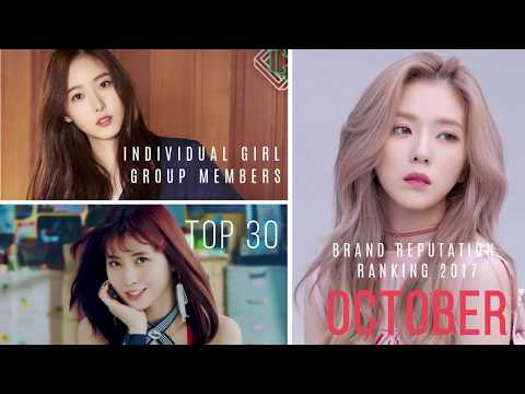 Top 30 K-Pop Female Idols' Brand Reputation Rankings (October 2017)