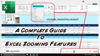 All About Zoom Features | Microsoft Excel 2016 Tutorial