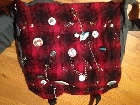 DIY Punk/Visual Kei Messenger Bag
