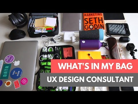 What's in My Backpack: UX Design Consultant