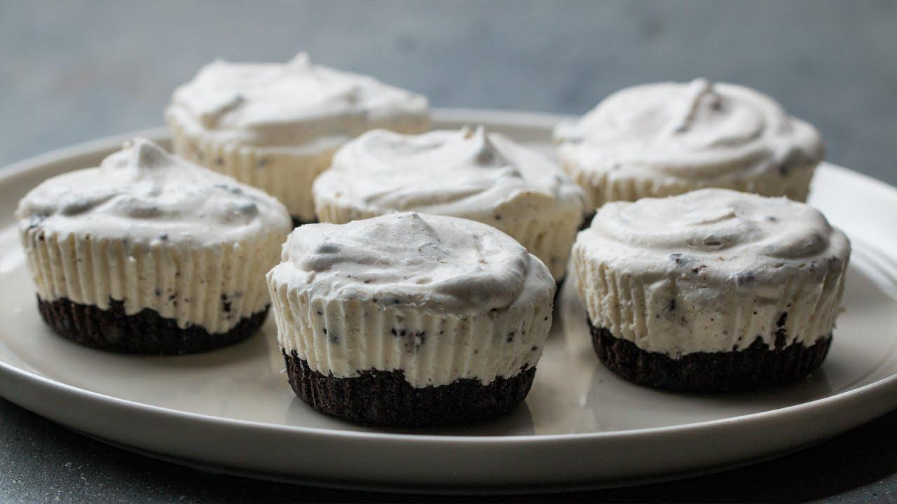 Mini Cookies 'N' Cream Ice Cream Pies - YouTube