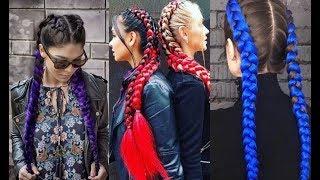 Как заплетать косы: плетение с канекалоном. Урок №2 часть1