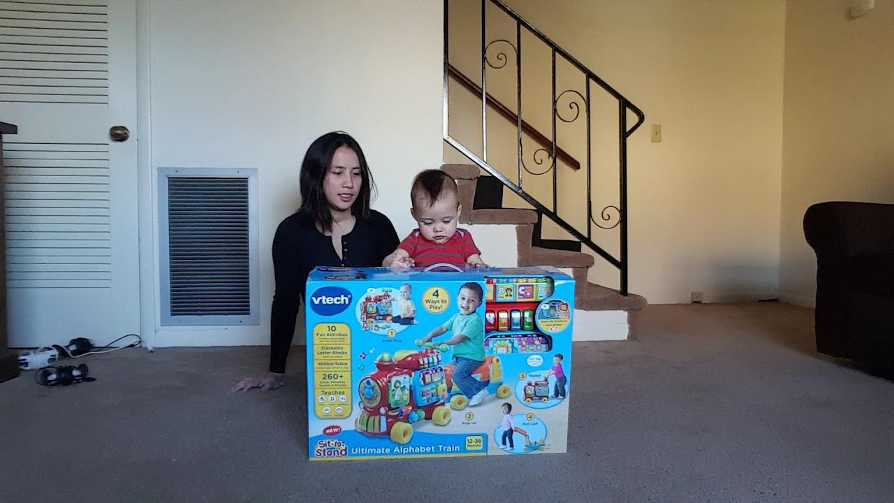 Vtech Sit To Stand Ultimate Alphabet Train Unboxing Youtube