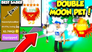 GETTING THE BEST SABER AND RAREST MOON VOID PET IN SABER SIMULATOR UPDATE!! (Roblox)