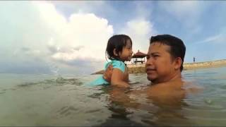 Bali VLOG Achi Belajar Renang di Pantai Sanur