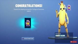 New ANIMATED 'PERFECT BLEND' EMOTE in Fortnite! (14 Days of Summer FREE Reward)