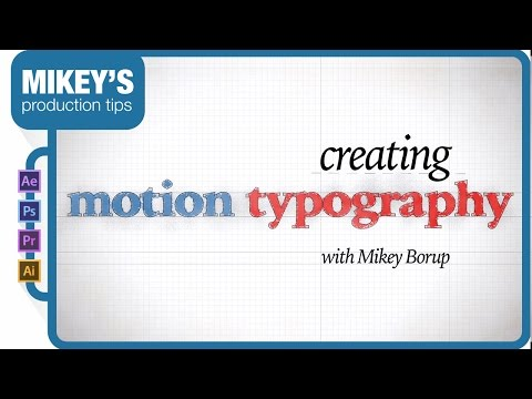Creating Motion Typography