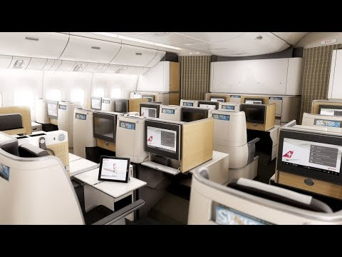 SWISS Boeing 777-300ER Business Class Zurich to San Francisco: first trip for the kids