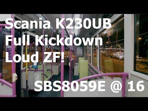 Scania K230UB Kickdowns + Loud ZF! SBS8059E on Service 16