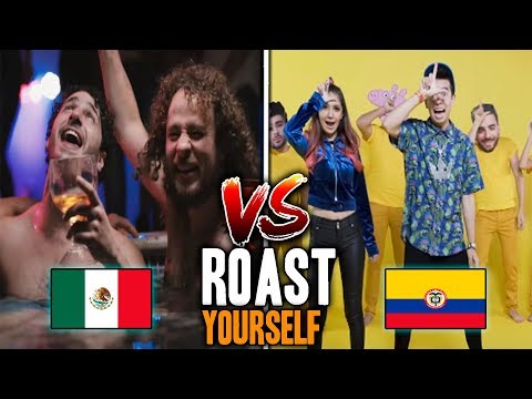 MEXICO vs COLOMBIA *Roast Yourself CHALLENGE* ¿QUE PREFIERES?