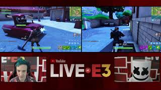 Ninja and Marshmello Play Fortnite at the YouTube Live at E3 Studio Part 1