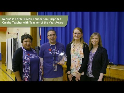 Nebraska Agriculture in the Classroom Teacher of the Year Surprise