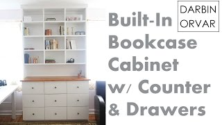 Installing & Finishing Built-in Bookcases And Drawers For An Office