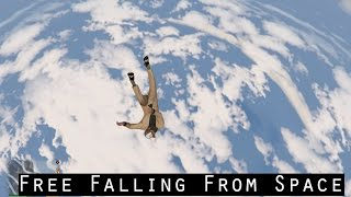 GTA V PC - Trevor Free Falling From Space