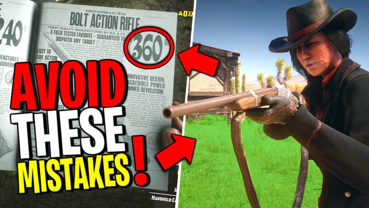 9 Common Mistakes New Players Make - Red Dead Online | Tips and Tricks