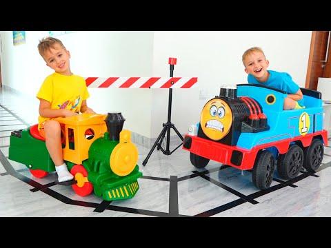 컬렉션 아이 비디오 - 장난감 기차 블라드와 니키 놀이