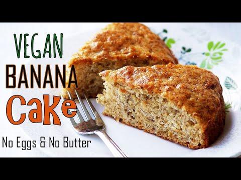 Eggless Banana Cake Recipe - How To Make Vegan Banana Cake Recipe