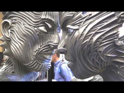 Gil Bruvel's 3D Metal Art @ 3d Printer World Expo 2014