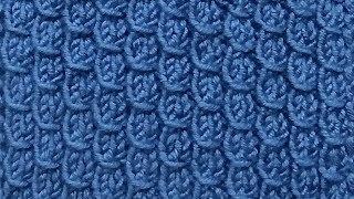 Рельефный узор Вязание спицами Видеоурок 244